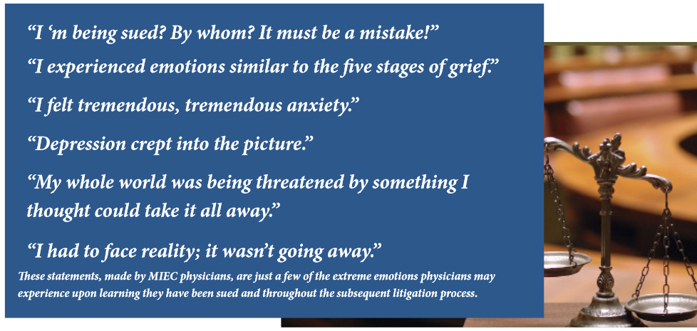 Statements from Physicians on litigation related stress