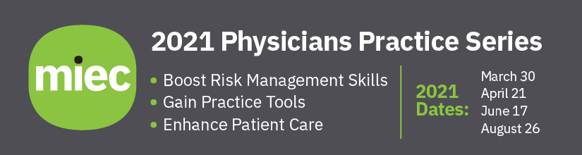 ACMS MIEC 2021 Physicians Practice Webinar Series Banner